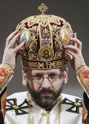 Интронизация нового главы Украинской греко-католической церкви Святослава Шевчука. Фото: © REUTERS/Konstantin Chernichkin  .