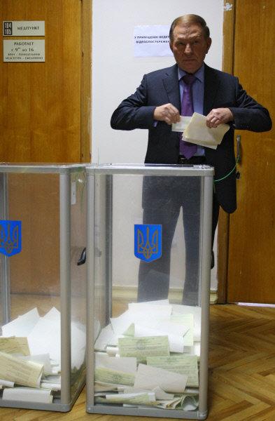 Голосование политиков на выборах в Верховную Раду