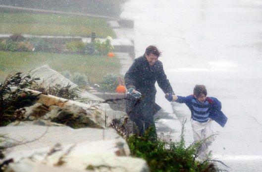 Последствия урагана Сэнди в США. Штат Масачусетс.