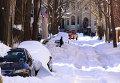 США после сильного снегопада. Архивное фото