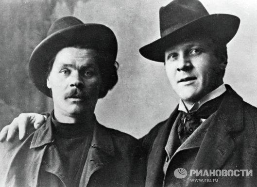 Алексей  Горький и Федор Шаляпин