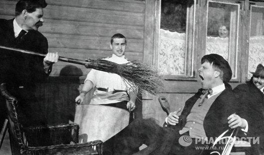 Максим Горький и Федор Шаляпин