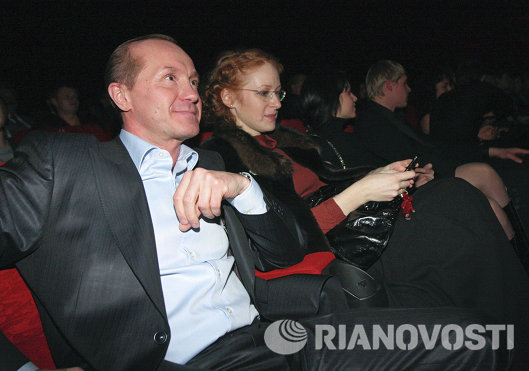 Андрей Панин и Наталья Рогожкина на премьере фильма Кандагар
