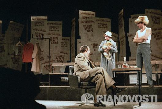 Валентин Гафт, Лия Ахеджакова и Игорь Кваша - сцена из спектакля Спешите делать добро