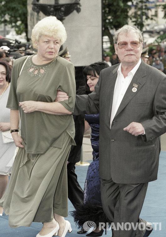 Михаил Пуговкин с супругой Ириной Лавровой