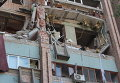 Взрыв в жилом доме в Луганске