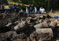 Ликвидация захоронения непригодных пестицидов, архивное фото