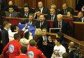 Заседание Верховной Рады Украины в связи с решением о приостановке подготовки к ассоциации с Евросоюзом