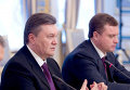 Виктор Янукович и глава администрации президента Сергей Левочкин