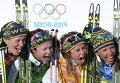Олимпиада 2014. Ида Ингемарсдоттер, Эмма Викен, Анна Хог, Шарлотта Калла (Швеция)
