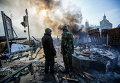 Ситуация на Майдане Незалежности во время протестов. Архивное фото