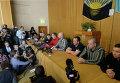 Пресс-конференция задержанных ополченцами в украинском Славянске офицеров из стран ОБСЕ
