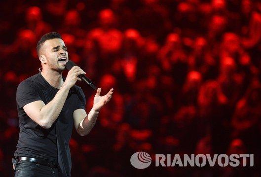 Представитель Венгрии певец Андраш Каллаи-Сондерс