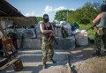 Блокпост ополчения на окраине Славянска. Архивное фото