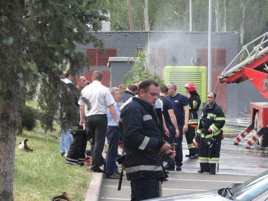Арена ХК Донбасс после поджога