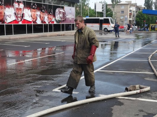 Поджог арены ХК Донбасс