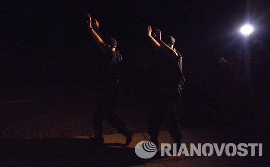 Солдаты сдались ополченцам на окраине Луганска