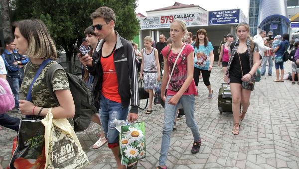 Дети из Славянска