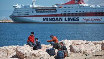 Беженцы из Ливии. Архивное фото