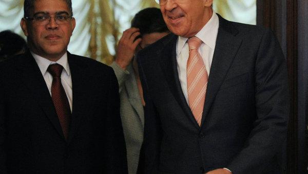Встреча глав МИД РФ и Венесуэлы С.Лаврова и Э.Хауа