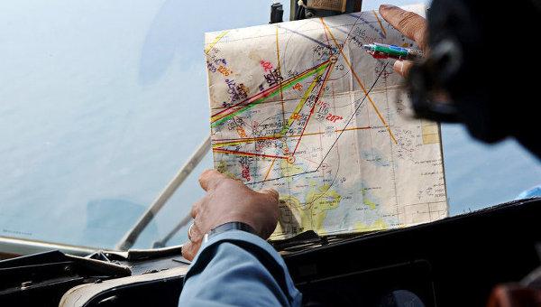 Поиски самолета. Архивное фото