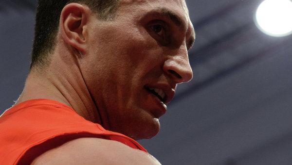 Украинский боксер Владимир Кличко.