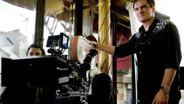 Квентин Тарантино во время съемок фильма. Архивное фото
