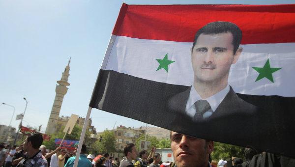 Митинг в Сирии.