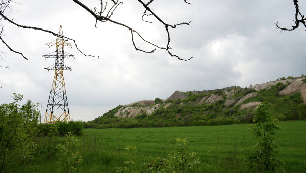 Терриконы шахт Донбасса