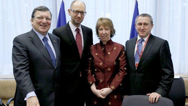 Украина и ЕС подписали политчасть ассоциации