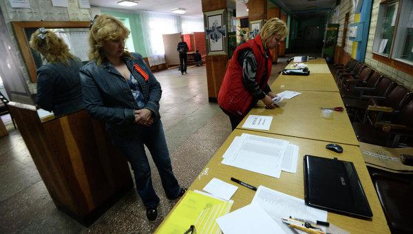 На одном из избирательных участков в Славянске