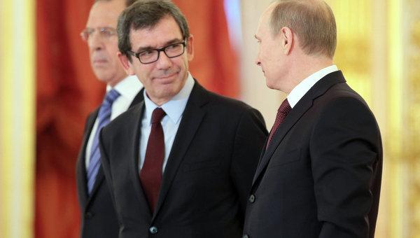 Церемония вручения верительных грамот президенту России В.Путину в Кремле