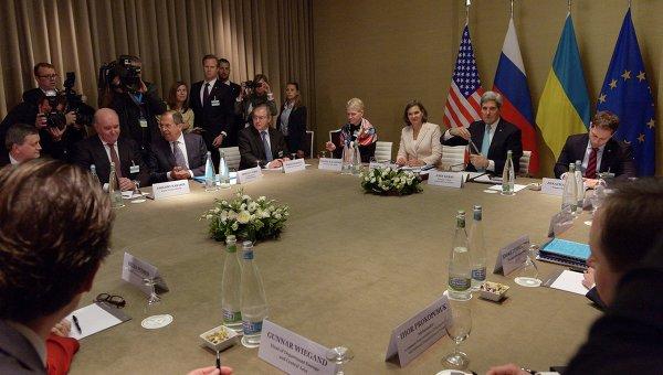 Четырехсторонняя встреча (США, ЕС, Украина, РФ) в Женеве