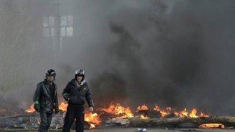 На месте спецоперации в Славянске, 13 апреля 2014