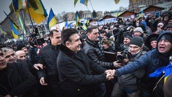Михаил Саакашвили на Майдане в Киеве. Архивное фото