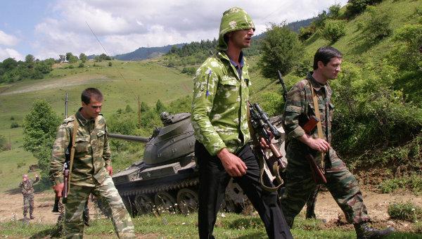Добровольцы из Абхазии. Архивное фото