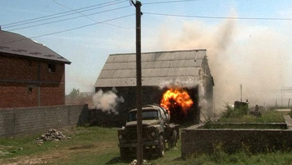Спецоперация по задержанию боевиков в Хасавюрте