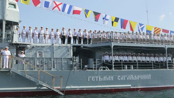 Команда украинского фрегата Гетьман Сагайдачный. Архивное фото