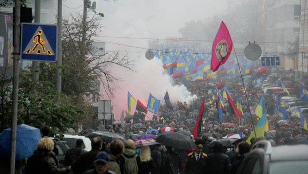Митинг Свободы в Киеве в честь 70-летия УПА