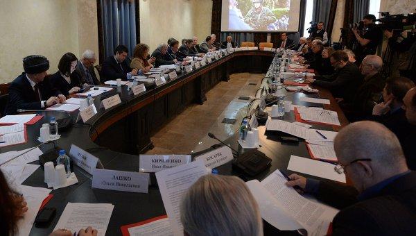 Слушания в Общественной палате РФ, посвященные обсуждению ситуации на Украине