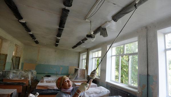 Ремонт школы. Архивное фото