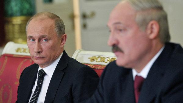 В.Путин и А.Лукашенко. Архивное фото