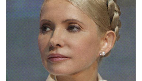 Экс-премьер-министр Украины, лидер партии Батькивщина Юлия Тимошенко