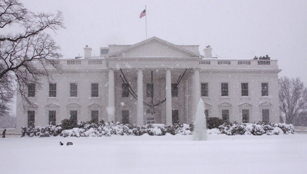 The building of the White House in Washington