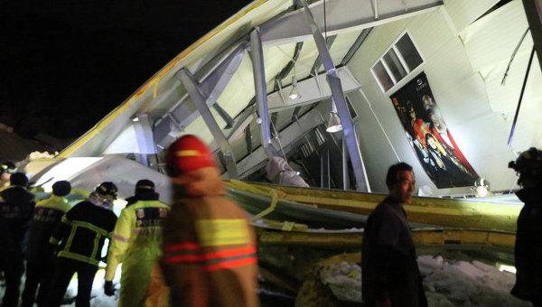 Обрушение здания в Южной Корее