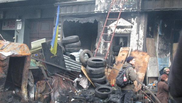 Ситуация на евромайдане в Киеве