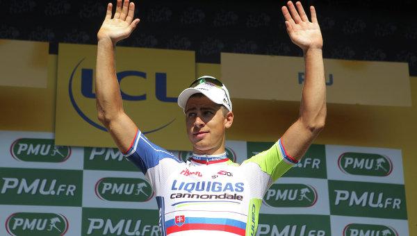 Словак Петер Саган из команды Liquigas-Cannondale. Архивное фото