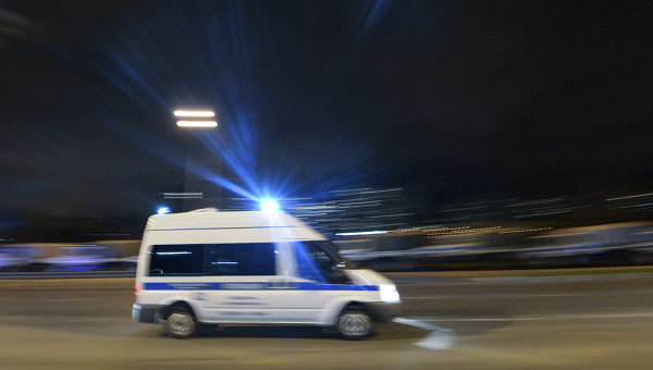 Автомобиль российской полиции. Архивное фото
