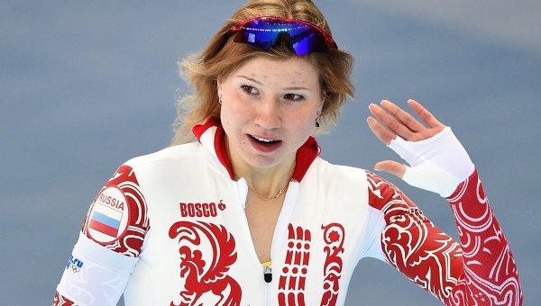 Российская конькобежка Ольга Фаткулина