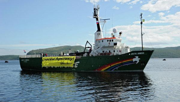 Судно Greenpeace Арктик Санрайз задержано пограничниками РФ